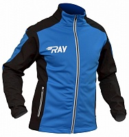 Лыжная разминочная куртка Ray Pro Race WS Blue-Black мужская 114M-13